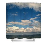 Low Hanging Clouds Shower Curtain