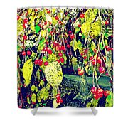 Low Hanging Fruit Shower Curtain