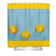 Low Hanging Lemons Shower Curtain