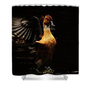 Low Key Duck Shower Curtain