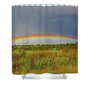 Low Lying Rainbow Shower Curtain