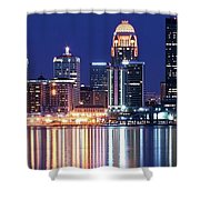 Low Moon Over Louisville Shower Curtain