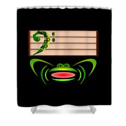 Low Note Shower Curtain