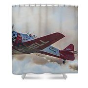 Low Pass Stunt Plane Shower Curtain