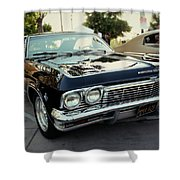 Low Rider In Black Shower Curtain