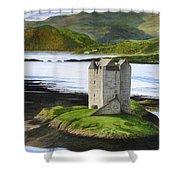 Low Tide At Castle Stalker Shower Curtain