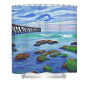 Low Tide At Haskell's Beach Shower Curtain