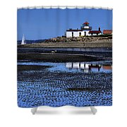 Low Tide At The Lighthouse Shower Curtain