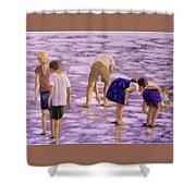 Low Tide Exploration Shower Curtain