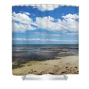 Low Tide In Paradise - Key West Shower Curtain