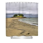 Low Tide In Popham Beach Maine Shower Curtain