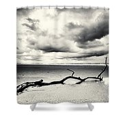 Low Tide, Lindisfarne Shower Curtain