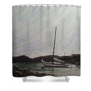 Low Tide Mooring Shower Curtain