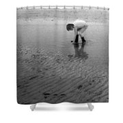 Low Tide Pool Two  Shower Curtain