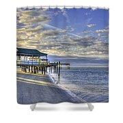Low Tide Sunrise Tybee Island Shower Curtain