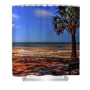 Low Tide Time Shower Curtain
