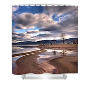 Low Waters Shower Curtain