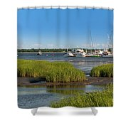Lowcountry Blue Skies Shower Curtain