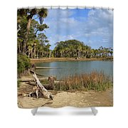 Lowcountry Lagoon Shower Curtain by Louise Heusinkveld