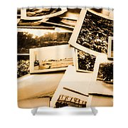 Lowdown On A Vintage Photo Collections Shower Curtain