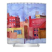 Lowell Sun Watercolor Shower Curtain