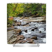 Lower Ammonoosuc Falls - Carroll, New Hampshire Shower Curtain by Erin Paul Donovan