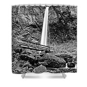 Lower Angle Of Elowah Falls In The Columbia River Gorge Shower Curtain