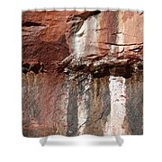 Lower Emerald Pool Rock-zion National Park Shower Curtain
