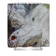 Raging Yantic In March Shower Curtain