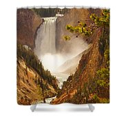 Lower Falls From Artists Viewpoint Shower Curtain