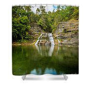 Lower Falls Of Enfield Glen Early Autumn Shower Curtain