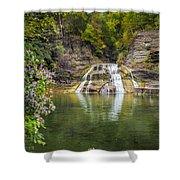 Lower Falls Of Enfield Glen Robert H. Treman State Park Shower Curtain