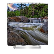 Lower Falls Of The Swift River Shower Curtain