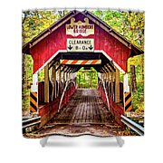 Lower Humbert Covered Bridge 5 Shower Curtain