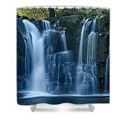 Lower Johnson Falls 2 Shower Curtain by Larry Ricker