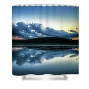 Lower Lake Sunset Shower Curtain