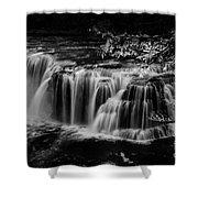 Lower Lewis Falls Washington State Shower Curtain