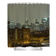 Lower Manhattan Cityscape Seen From Brooklyn Shower Curtain by Kyle Lee