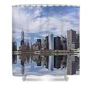 Lower Manhattan Nyc Shower Curtain