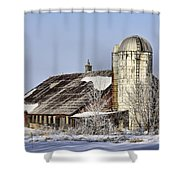 Lower Newton Rd. Barn Shower Curtain