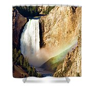 Lower Rainbow Of Colors Shower Curtain