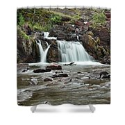 Lower Red Rocks Falls Shower Curtain by Jemmy Archer
