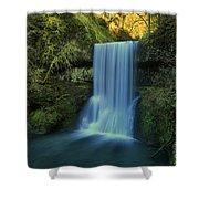 Lower South Falls Landscape Shower Curtain