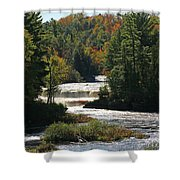 Lower Tahquamenon Falls  4349 Shower Curtain