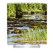 Lower Tahquamenon Falls 6128 Shower Curtain