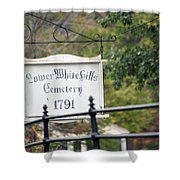 Lower White Hills Cemetery Shower Curtain
