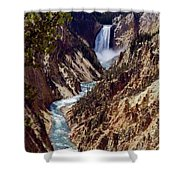 Lower Yellowstone Falls And River Shower Curtain
