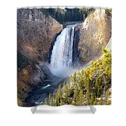 Lower Yellowstone Falls From Inspiration Point Shower Curtain