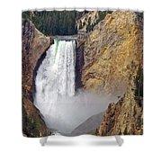 Lower Yellowstone Falls Shower Curtain