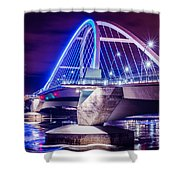 Lowry Bridge @ Night Shower Curtain